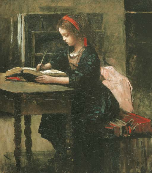 Young_girl_being_studied_writing