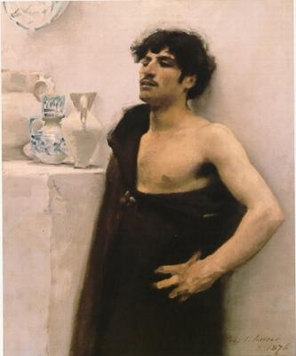 John singer sargent'syoung man in reverie